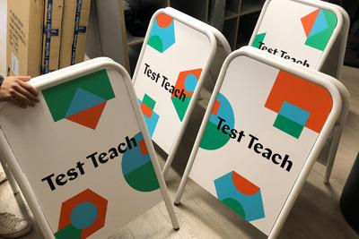 Test Teach signs